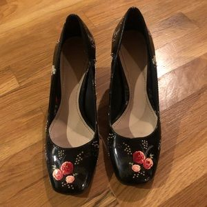 ZARA Flower & Bead Pumps